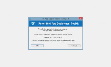 How to defer application installations with Powershell App Deployment Toolkit