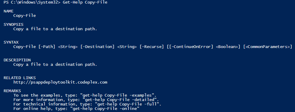 Get-Help Copy-File