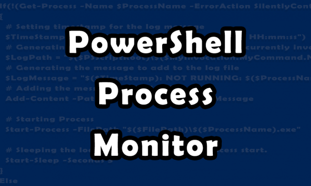 PowerShell Process Monitor